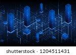 isometric big data flow... | Shutterstock .eps vector #1204511431