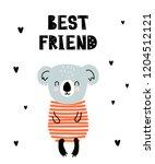 vector poster with cartoon cute ...   Shutterstock .eps vector #1204512121