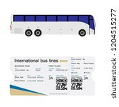 vector illustration bus and... | Shutterstock .eps vector #1204515277