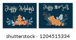 set of christmas and happy new... | Shutterstock .eps vector #1204515334