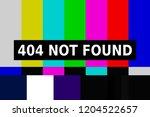 the internet message 404 not... | Shutterstock . vector #1204522657