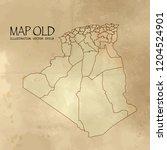 algeria on the map of balkans... | Shutterstock .eps vector #1204524901