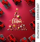 christmas and new years red... | Shutterstock .eps vector #1204531267