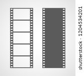 set of film frame icons in flat ... | Shutterstock .eps vector #1204534201