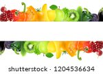 mixed fruits and vegetables.... | Shutterstock . vector #1204536634