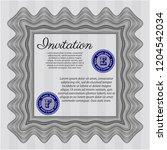 grey formal invitation.... | Shutterstock .eps vector #1204542034