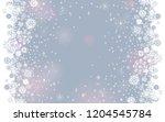 falling snow border on a light... | Shutterstock . vector #1204545784