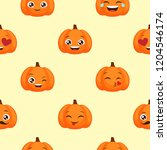 seamless pattern of funny... | Shutterstock . vector #1204546174