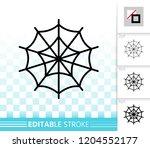 spider web thin line icon.... | Shutterstock .eps vector #1204552177