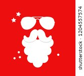 santa claus beard and glasses. | Shutterstock .eps vector #1204557574