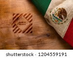 flag  and symbol made in mexico ...   Shutterstock . vector #1204559191