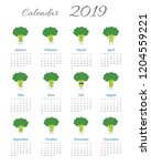 funny calendar 2019 year with...   Shutterstock .eps vector #1204559221