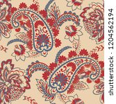 seamless paisley pattern in... | Shutterstock .eps vector #1204562194