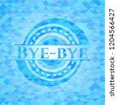 bye bye light blue mosaic emblem | Shutterstock .eps vector #1204566427
