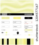 light yellow vector design ui...