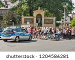 berlin  germany   july 13  2018 ... | Shutterstock . vector #1204586281