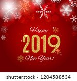 2019 happy new year and marry... | Shutterstock . vector #1204588534