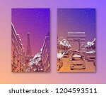 trendy cover template. winter... | Shutterstock .eps vector #1204593511