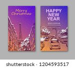 trendy cover template. winter... | Shutterstock .eps vector #1204593517
