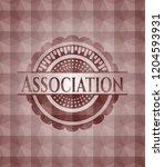 association red polygonal badge.... | Shutterstock .eps vector #1204593931
