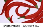 red hot chili peppers isolated... | Shutterstock . vector #1204595467
