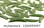 sugar snap peas rotating on... | Shutterstock . vector #1204595497