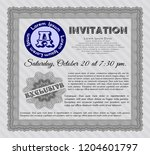 grey retro vintage invitation....   Shutterstock .eps vector #1204601797