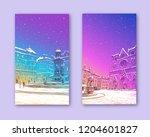 trendy cover template. winter... | Shutterstock .eps vector #1204601827