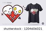 funny skeleton illustration.... | Shutterstock .eps vector #1204606021