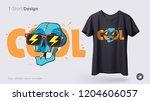 funny skeleton illustration.... | Shutterstock .eps vector #1204606057