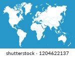 color world map vector | Shutterstock .eps vector #1204622137