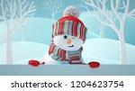 3d Render  Cute Snowman...