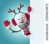 3d render  christmas snowman...   Shutterstock . vector #1204623871