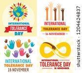 tolerance day banner set. flat...   Shutterstock .eps vector #1204624837