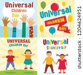 universal children day banner... | Shutterstock .eps vector #1204624951
