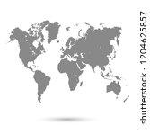 world map vector | Shutterstock .eps vector #1204625857
