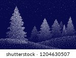 winter background landscape... | Shutterstock .eps vector #1204630507