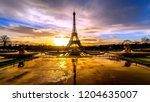 paris    france   eiffel tower ... | Shutterstock . vector #1204635007