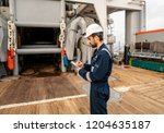 marine deck officer or chief... | Shutterstock . vector #1204635187