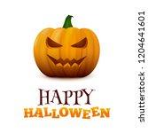 happy halloween typographic... | Shutterstock . vector #1204641601