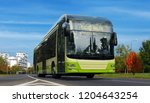 electric bus. green urban... | Shutterstock . vector #1204643254