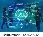 core values  business ethics...   Shutterstock . vector #1204644664