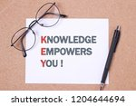 key  knowledge empowers you ...   Shutterstock . vector #1204644694