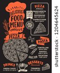 pizza menu template for... | Shutterstock .eps vector #1204645624