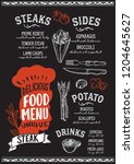 steak menu template for... | Shutterstock .eps vector #1204645627