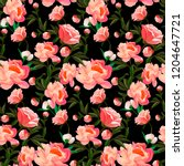 seamless floral pattern with of ... | Shutterstock .eps vector #1204647721