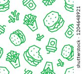 fast food low poly seamless...   Shutterstock .eps vector #1204648921