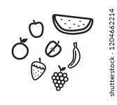 fresh fruits apple orange... | Shutterstock .eps vector #1204662214