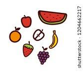 fresh fruits apple orange... | Shutterstock .eps vector #1204662217