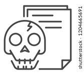 hack document icon. outline... | Shutterstock .eps vector #1204665691